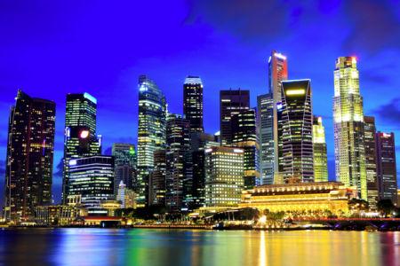 Фотообои сингапур ночью фото (city-0001147)