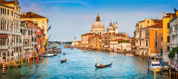 Фотообои канал в Венеции панорама (city-0001268)