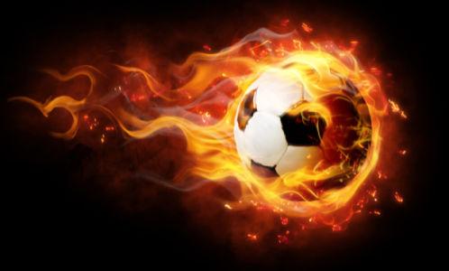 Фотообои мяч с огнём (fantasy-0000003)