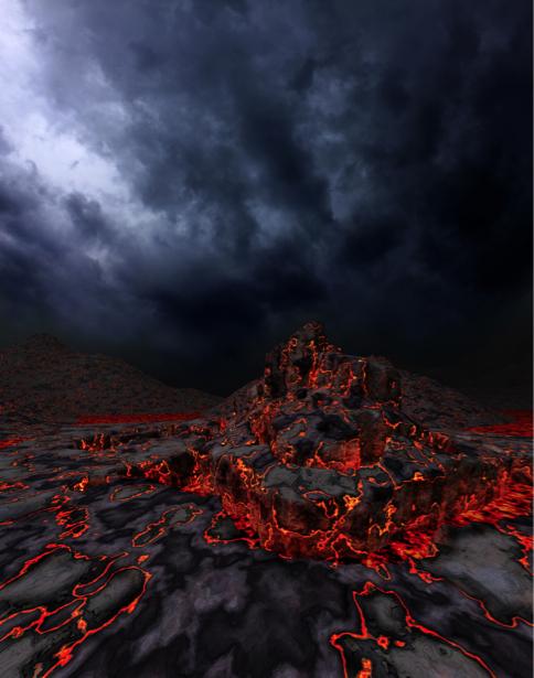 Фотообои лава (fantasy-0000123)