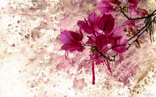 Фон из цветов Обои фото (flowers-0000193)