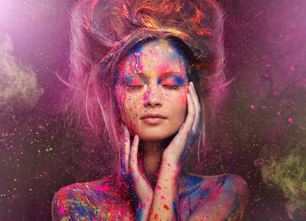Фотообои краска и девушка (glamour-0000255)