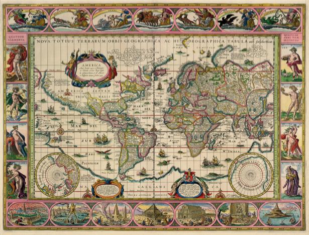 Фотообои география старая карта (map-0000191)