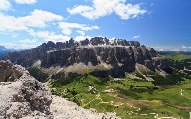 Фотообои лето горная гряда (nature-0000644)