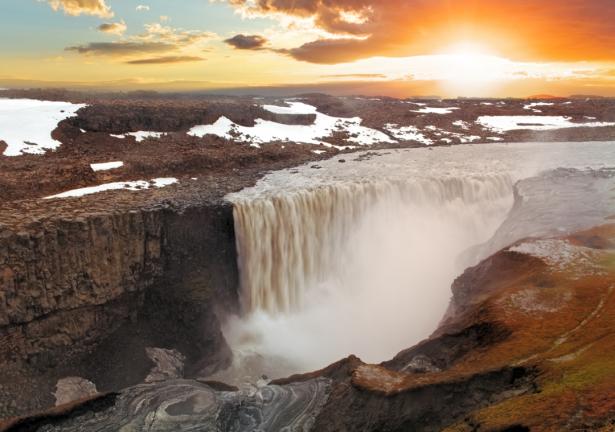 Фотообои водопад в Исландии (nature-0000777)