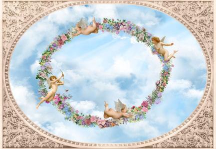 Фотообои на потолок для романтиков (overhead-0010)