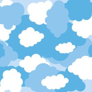 Фотообои на потолок блакитні хмарки (overhead-0012)
