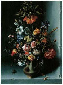 Картина цветы в вазе натюрморт (pf-116)
