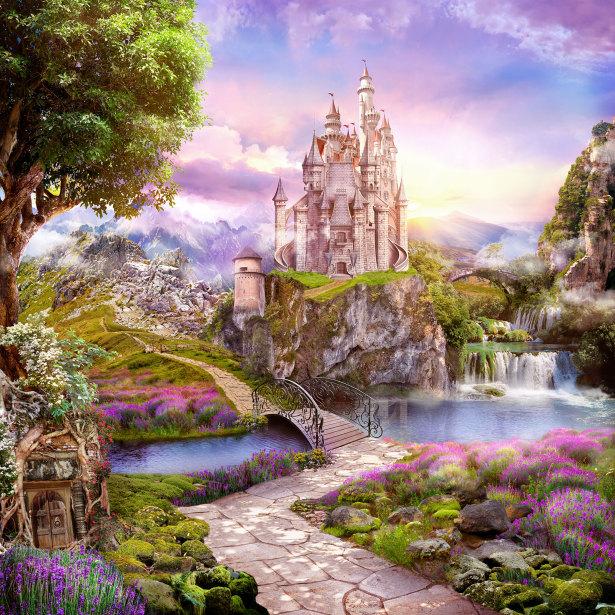 Фотообои Розовый замок (printmaking-0000116)