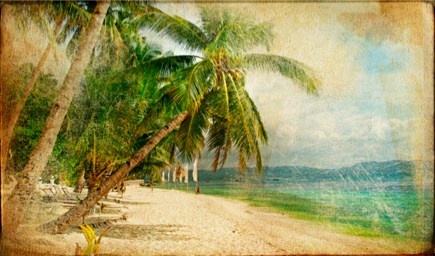 Фотообои пляж природа море (retro-vintage-0000108)