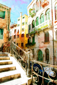 Фотообои канал Венеция Италия (retro-vintage-0000122)