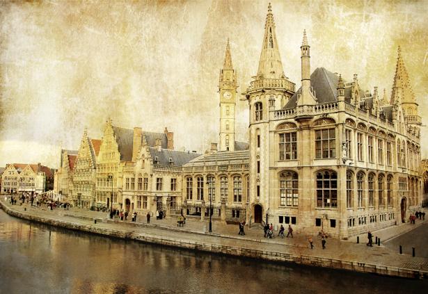 Фотообои старая Европа замок (retro-vintage-0000176)