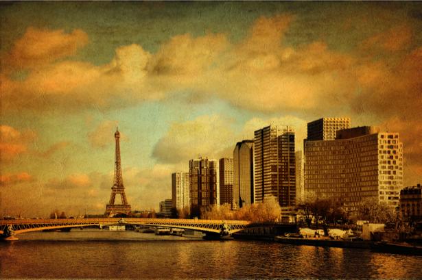 Фотообои Эйфелева башня ретро (retro-vintage-0000181)