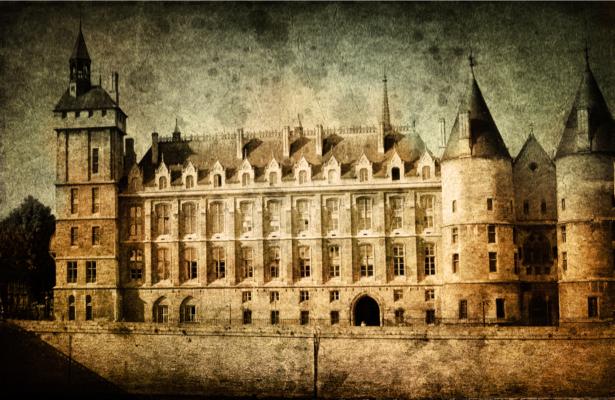 Фотообои город Европа замок (retro-vintage-0000186)