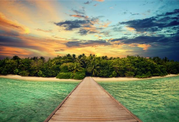 Фотообои море берег остров мост (sea-0000326)