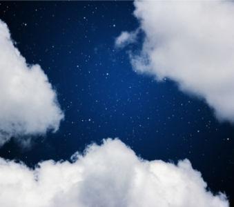 Фотообои вечернее небо со звёздами (sky-0000081)