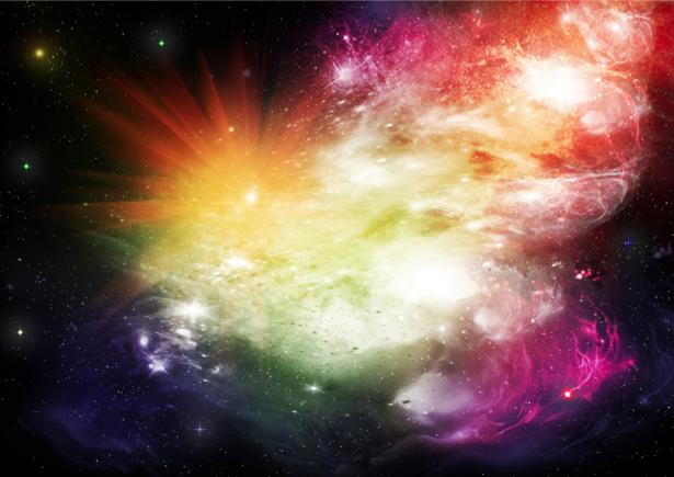 Фотообои цветная галактика (space-0000059)