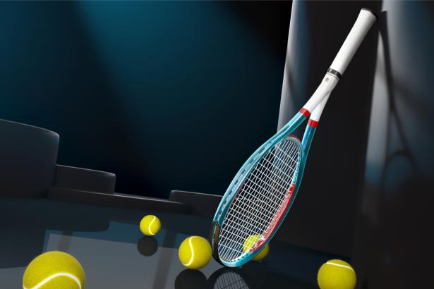 Фотообои с теннисной ракеткой (sport-0000144)