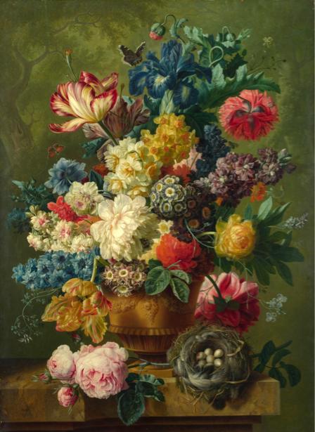 Фотообои для гостиной с цветами (still-life-0066)