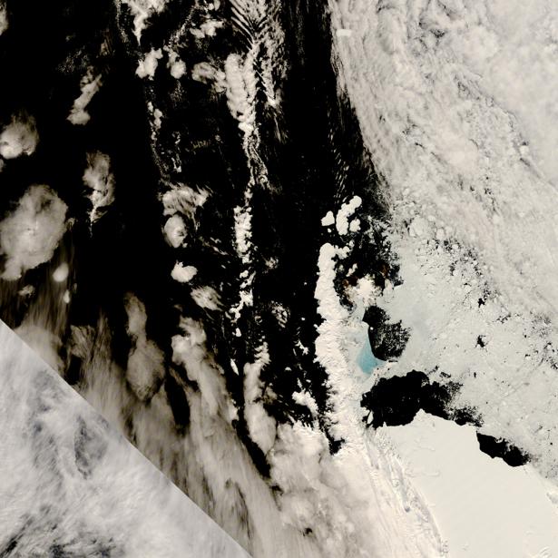 Фотообои NASA облачно и снежно (terra-00244)