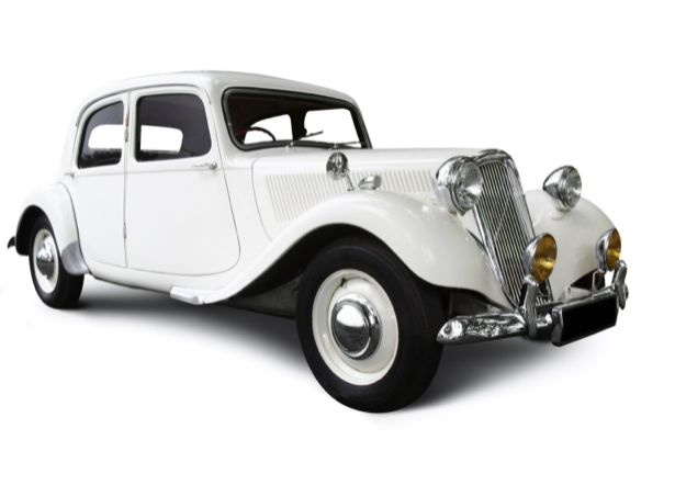 Фотообои белый ретро автомобиль (transport-0000025)