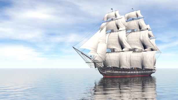 Фотообои парусный корабль в море 3д (transport-0000196)