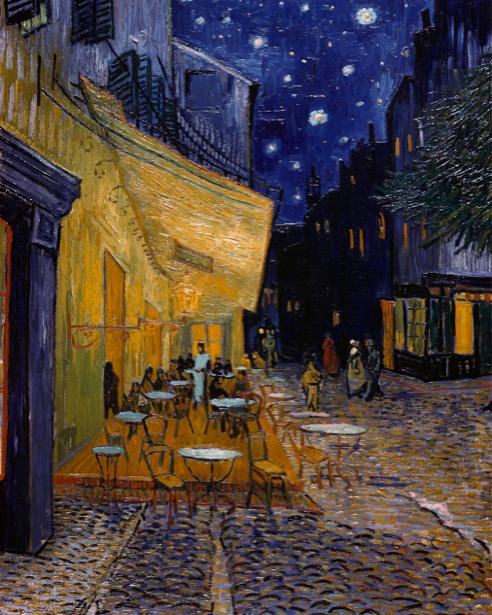 ван Гог Террасе кафе на Пляс-дю-форум (art-0000042)