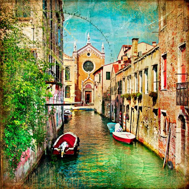 Фотообои канал в Венеции (city-0000465)