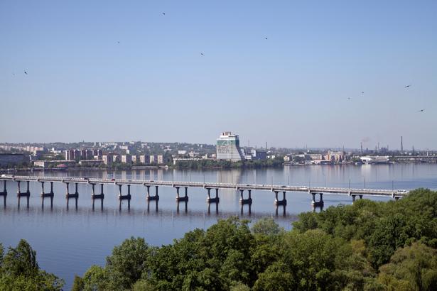 Фотообои Днепропетровск мост Украина (city-0000839)