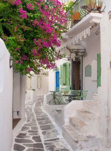 Фотообои цветущая Греция (city-0001225)