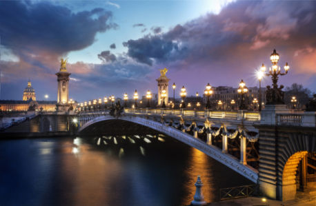 Фотообои Мост Александра III, Париж 1 (city-0001301)