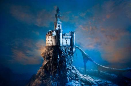 Замок на горе - Детские фотообои (city-0001392)