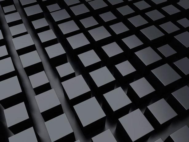 Фотообои для офиса черные кубики (commercial-00044)