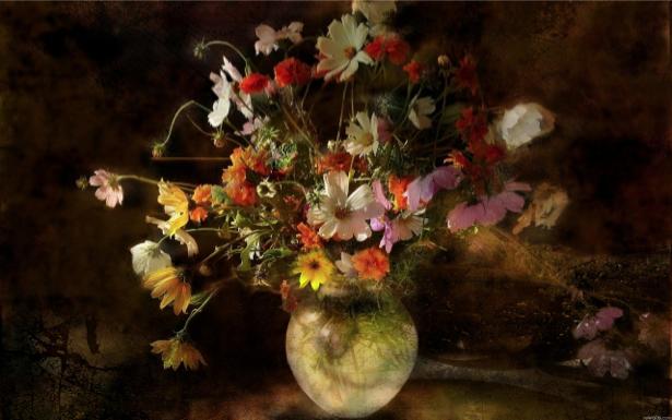 Фото картины цветы Натюрморт с цветами (flowers-0000120)