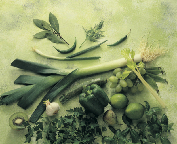 Фотообои для кухни Зеленый натюрморт (food-0000047)