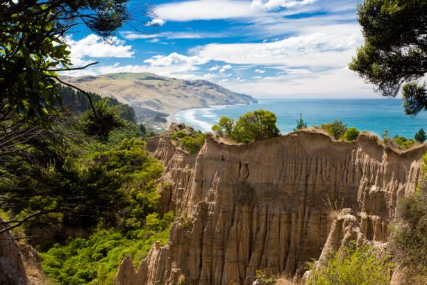 Фотообои скалы Гор Bay Новая Зеландия (nature-0000785)