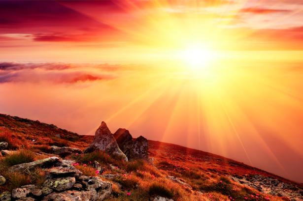 Фотообои горы красивый закат (nature-00175)