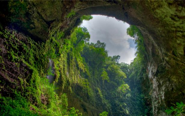 Фотообои в зал ущелье горы (nature-00207)