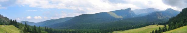 Фотообои горная панормама лесные холмы (panorama_0000014)