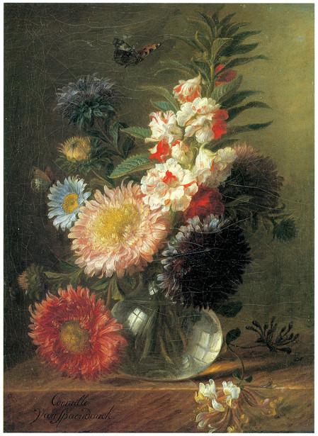 Герард ван Спаендонк натюрморт, ваза с цветами (pf-106)