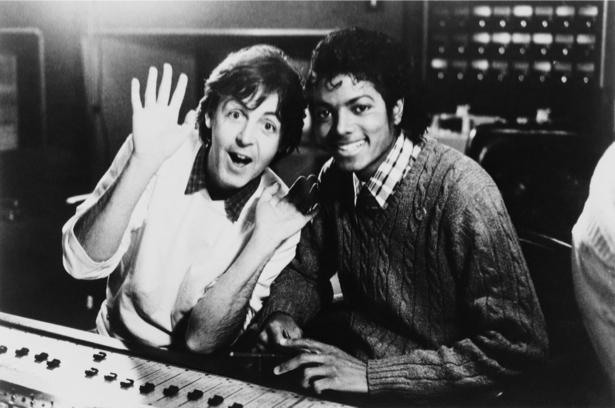 Фотообои Пол Маккартни и Майкл Джексон (retro-vintage-0000371)