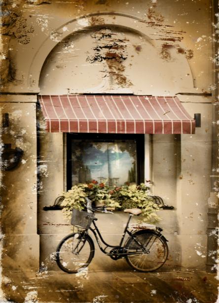Фотообои Итальянская улочка фото (retro-vintage-0000378)