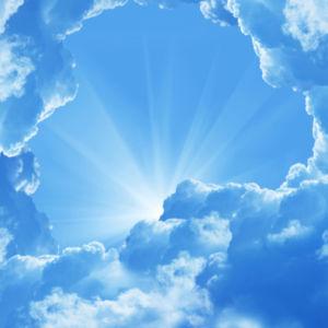 Фотообои в офис лучи сквозь облака (sky-0000078)
