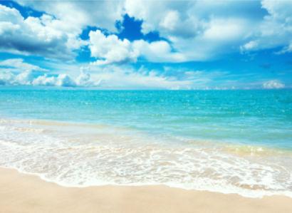 Фотообои небо и лазурная вода (sky-0000088)