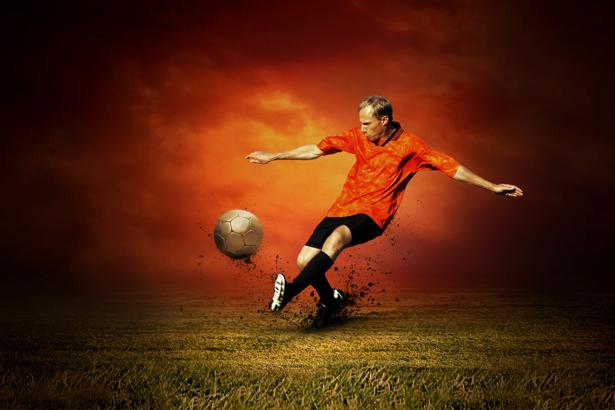 Фотообои футболист фото (sport-0000034)