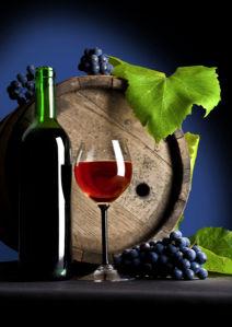 Фотообои бокал вина на столе (still-life-0026)