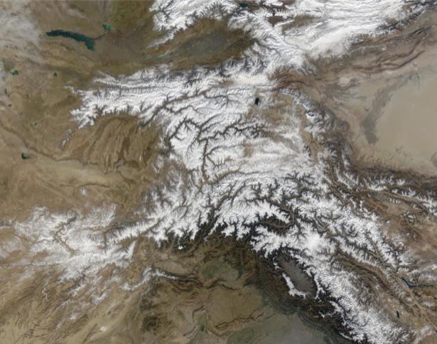 Фотообои фото белый узор на вершине гор (terra-00123)