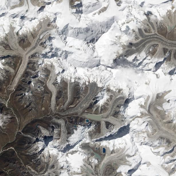 Фотообои на стену снег и горы (terra-00187)