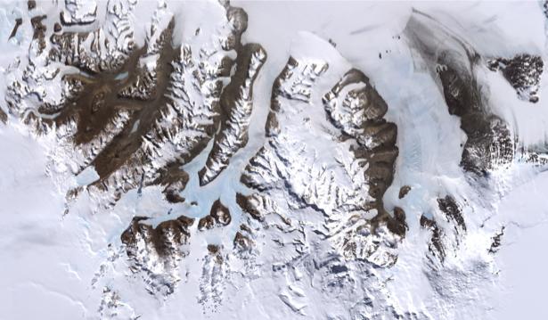 Фотообои на стену белые горы (terra-00225)
