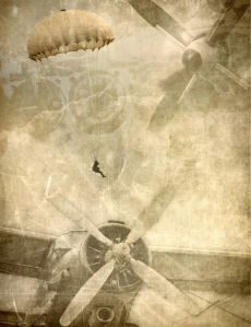 Фотообои старый самолет биплан (transport-0000245)